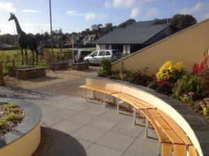 Archie bench at Aberdeen children's hospital